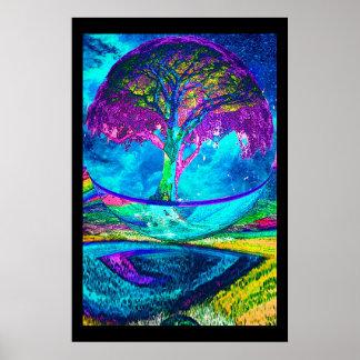 Baum der Leben-Meditation Poster