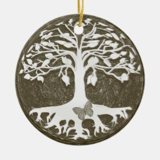 Baum der Leben-neuen Anfänge durch Amelia Carrie Rundes Keramik Ornament
