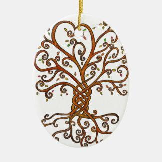 Baum der Leben-Verzierung Keramik Ornament