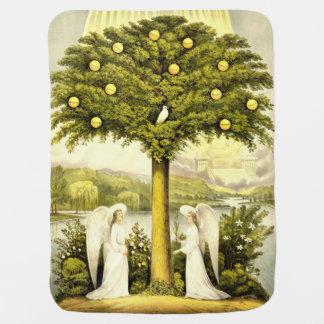 Baum der Lebenbabydecke Kinderwagendecke