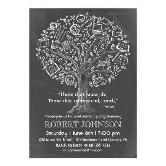 Baum der Wissens-Lehrer-Ruhestands-Einladung