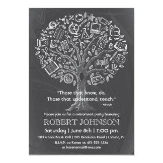Baum der Wissens-Lehrer-Ruhestands-Einladung 12,7 X 17,8 Cm Einladungskarte