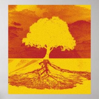 Baum des Leben-Entspannung Poster