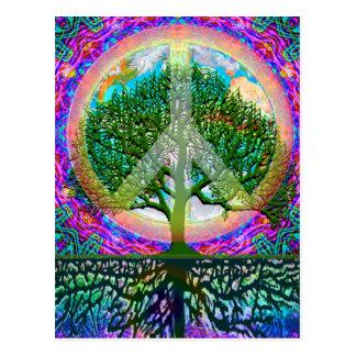 Baum des Leben-Friedens Postkarte