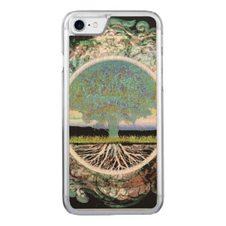 Baum des Leben-Glückes Carved iPhone 8/7 Hülle