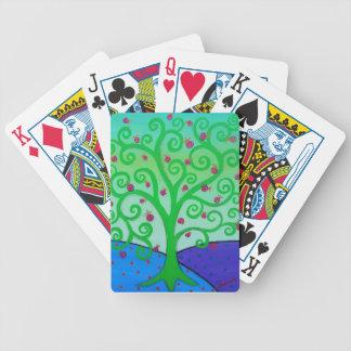 Baum des Leben-Granatapfels Bicycle Spielkarten