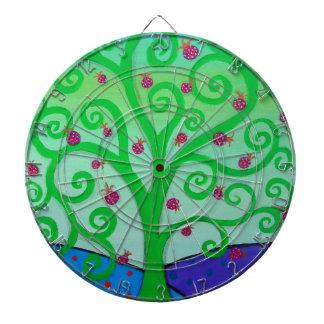 Baum des Leben-Granatapfels Dartscheibe