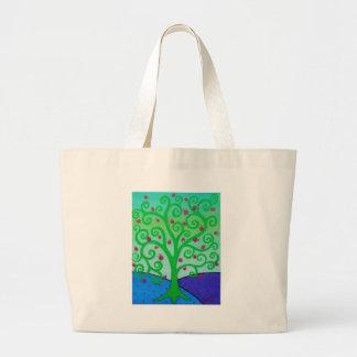 Baum des Leben-Granatapfels Jumbo Stoffbeutel