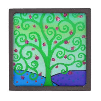 Baum des Leben-Granatapfels Schmuckkiste