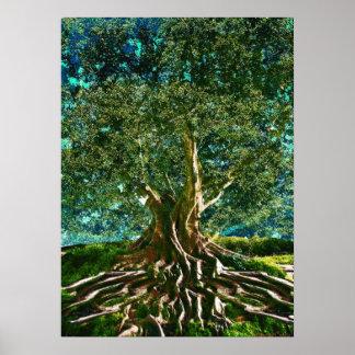 Baum des Leben-Grüns Poster
