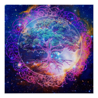 Baum des Leben-Heilens Poster