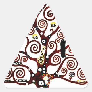 Baum des Lebens Dreieckiger Aufkleber