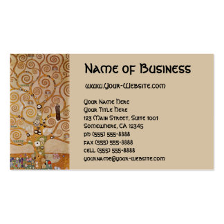 Baum des Lebens durch Klimt, stilisiertes Kunst Visitenkarten