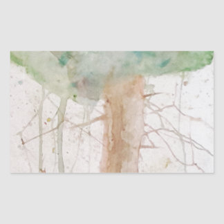 Baum des Lebens durch Koo Rechteckiger Aufkleber