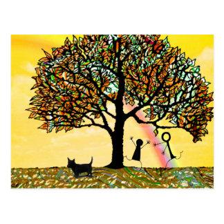 Baum des Lebens erneuern Postkarte
