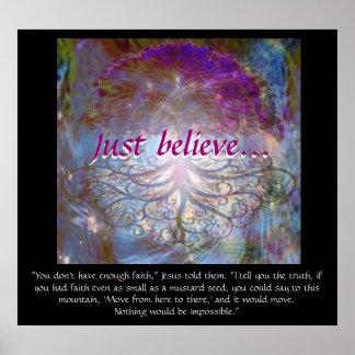 Baum des Lebens glauben gerade Poster