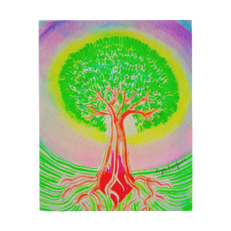 Baum des Lebens Holzwanddeko