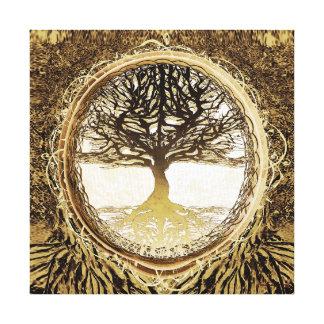 Baum des Lebens in Brown Leinwanddruck