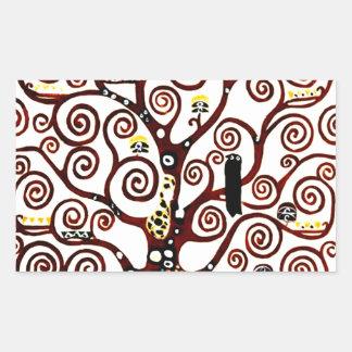 Baum des Lebens Rechteckiger Aufkleber