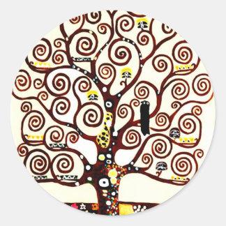 Baum des Lebens Runder Aufkleber