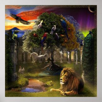 Baum des Lebens u. des Alters Poster