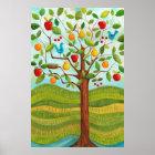 Baum des Psalm-1 gepflanzt durch Flüsse des Poster