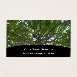 Baum-Dienstleistungsunternehmen-Karte Visitenkarte
