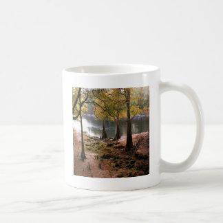Baum-Fall auf ruhigen Fluss Kaffeetasse