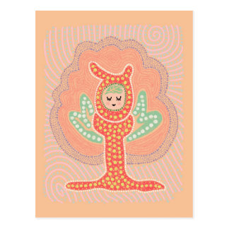 Baum-feenhafte Traumland-Punkt-Malerei Postkarte