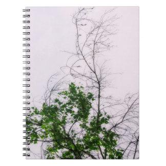 Baum-Finger Spiral Notizblock