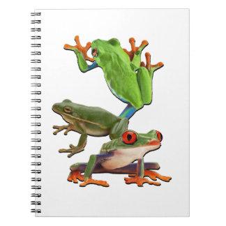 Baum Frogger Spiral Notizblock