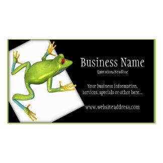 Baum-Frosch auf eine Plattform-Visitenkarten Visitenkarten