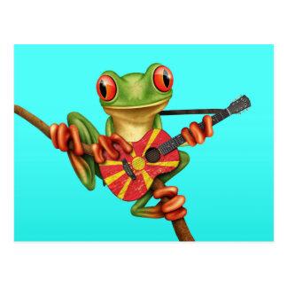 Baum-Frosch, der mazedonisches Postkarte
