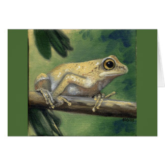 """Baum-Frosch"" Grußkarte"