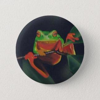 Baum-Frosch Runder Button 5,7 Cm