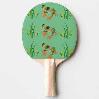 Baum-Frösche auf Klingeln Pong Paddeln Tischtennis Schläger