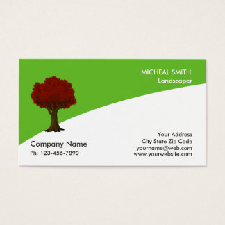 Baum-Garten-Rasen-Sorgfalt und Landschaft Visitenkarte
