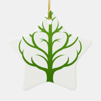 Baum-Gehirn-Konzept Keramik Stern-Ornament