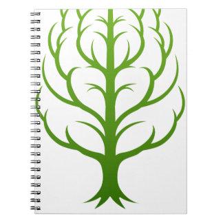 Baum-Gehirn-Konzept Spiral Notizblock