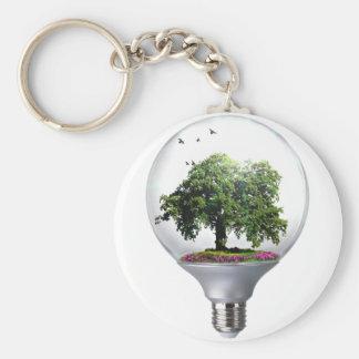 Baum Glühlampe des Dioramas Schlüsselanhänger