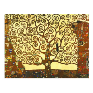 Baum Gustav Klimt der Leben-Postkarte Postkarte
