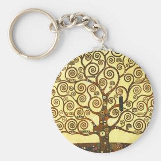 Baum Gustav Klimt der Leben-Schlüsselkette Standard Runder Schlüsselanhänger