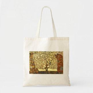 Baum Gustav Klimt der Leben-Taschen-Tasche Budget Stoffbeutel