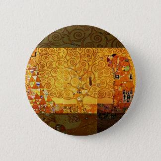 Baum Gustav Klimt des Leben-Kunst Nouveau Runder Button 5,7 Cm