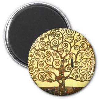 Baum Gustav Klimt des Leben-Magneten Runder Magnet 5,7 Cm