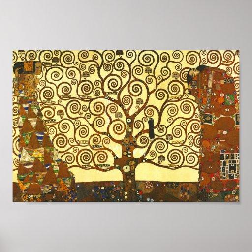 Baum Gustav Klimt des Leben-Plakats Plakatdrucke