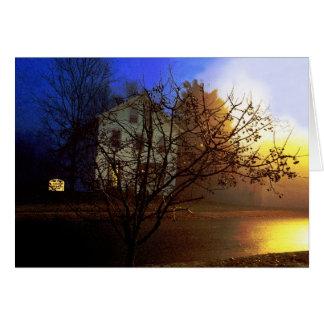 Baum-Haus - Gold und blauer Ruhm II Karte