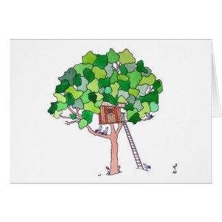 Baum-Haus, leer Grußkarte
