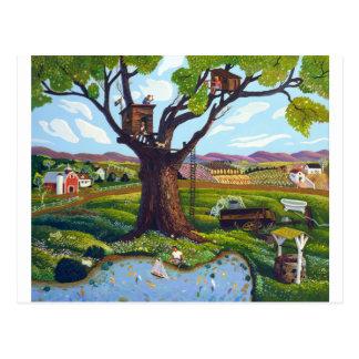 Baum-Haus Postkarte