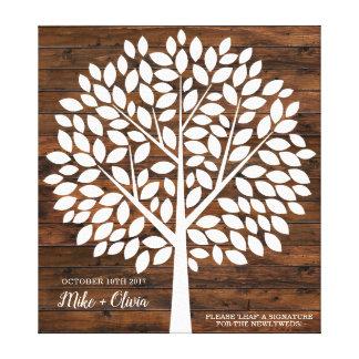 Baum-Hochzeits-Gast-Buch-Alternative   120 Blätter Leinwanddruck